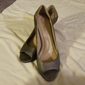 Leather Pumps by Ellen Tracy